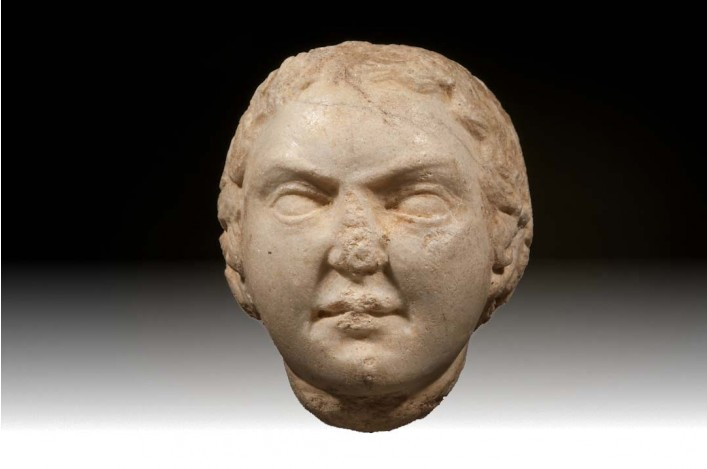 A Greek Marble Head of a Young Female