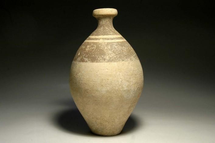 A Cream Colored Phoenician Flask