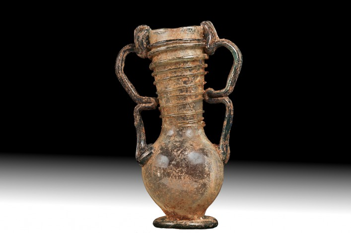 A Four Handle Glass Vase