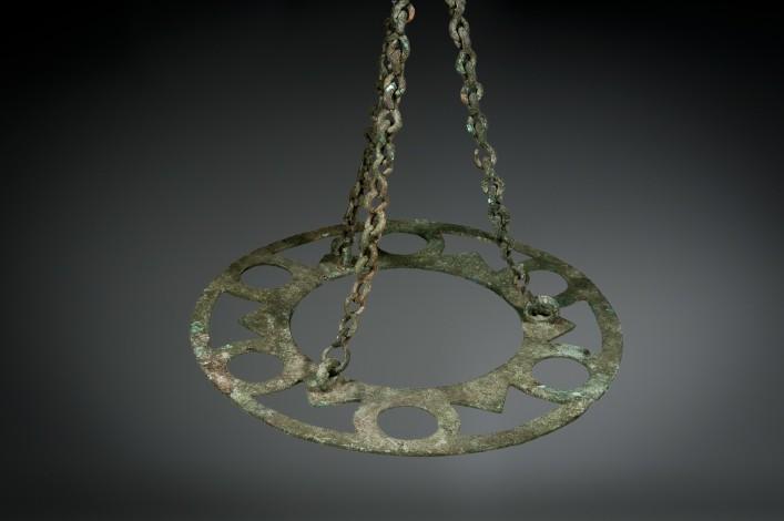 A Bronze Byzantine Oil Lamp Chandelier