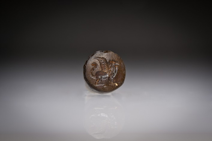 A Phoenician Hemitite Seal of a Winged Lion