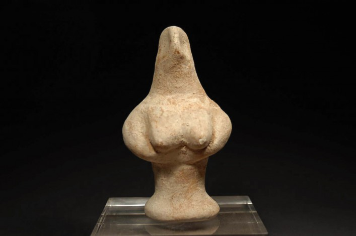 "An Israelite ""Bird-Faced"" Astarte Figurine"