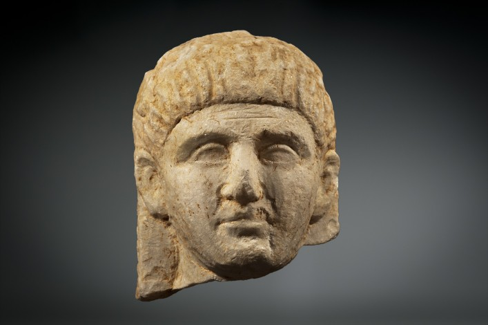 A Greek Marble Head of a Male
