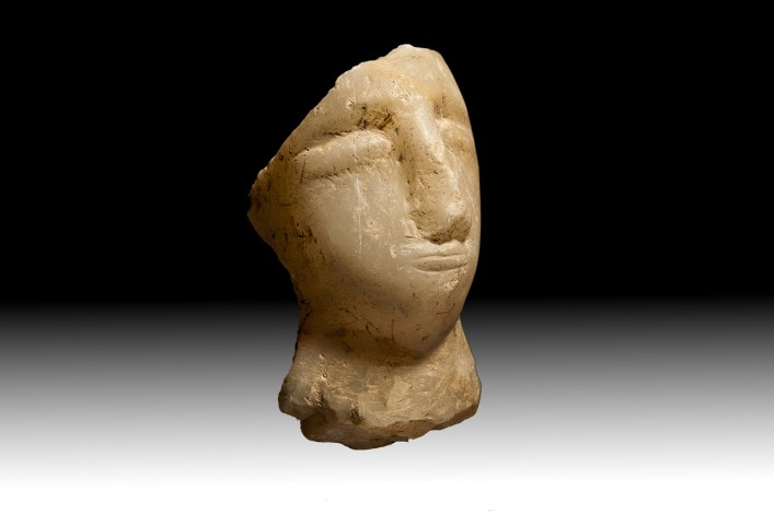 An Alabaster Head of a Male