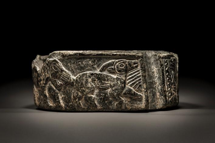 Bactrian Schist Stone Box