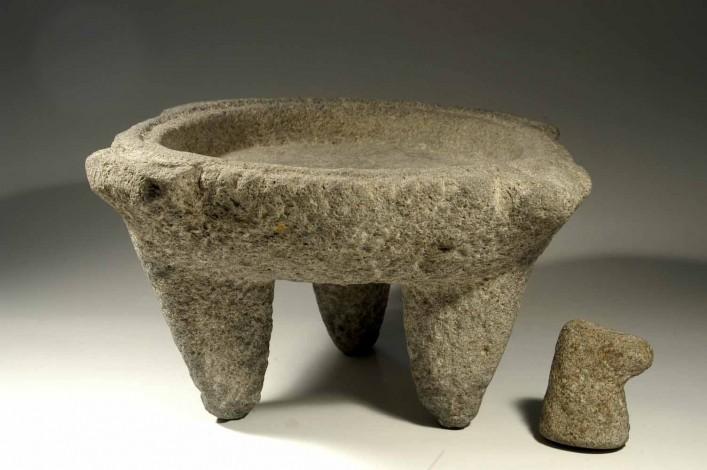 A Basalt Canaanite Pestal and Mortar