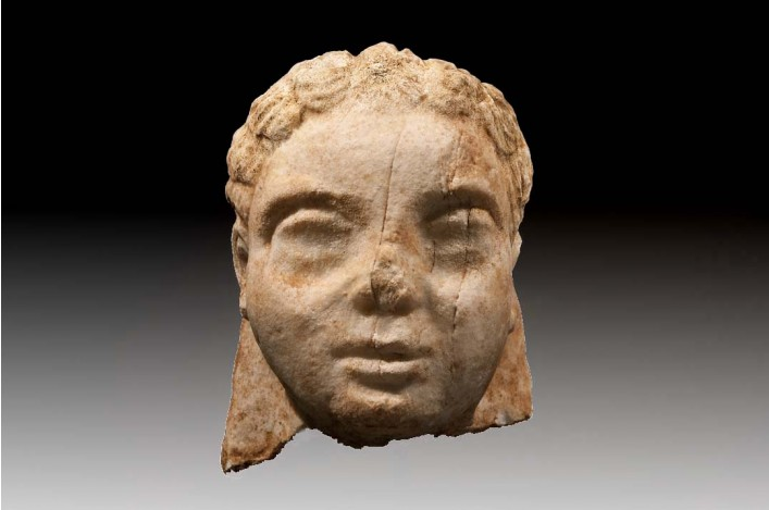 A Greek Marble Head of a Young Male