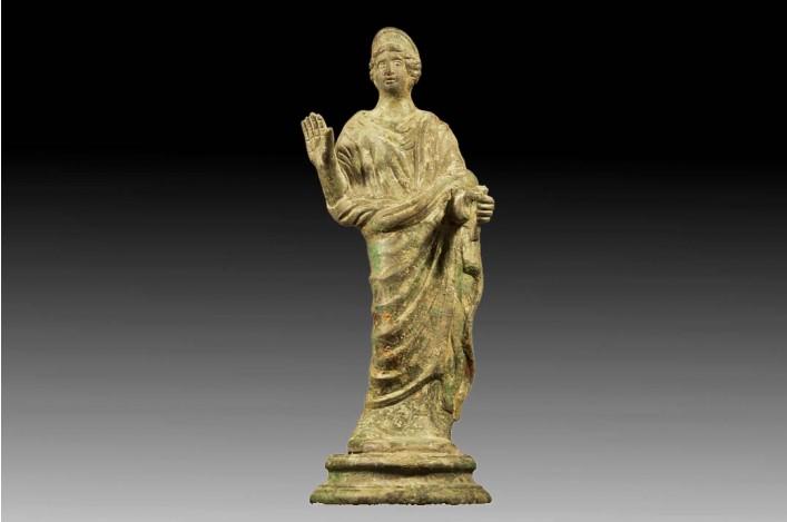 A Roman Bronze Figurine of Minerva