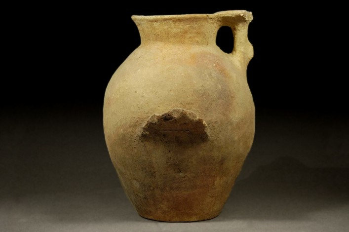 A Canaanite Jar with Two Wavy Ledge Handles