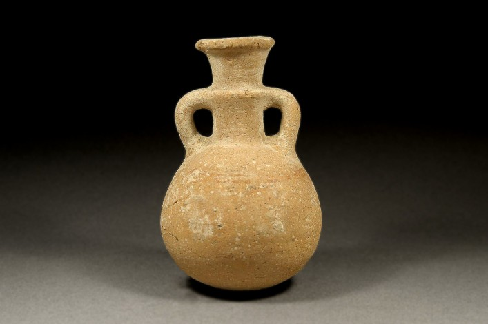 A Hellenic Cypriot Jug (Pilgrim Bottle) of Red Ware