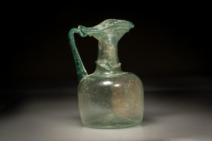 Roman Translucent Glass Trefoil Juglet