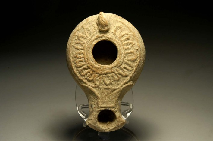 A Herrodian Oil Lamp with the Distinctive Classic Pattern of Ovolis