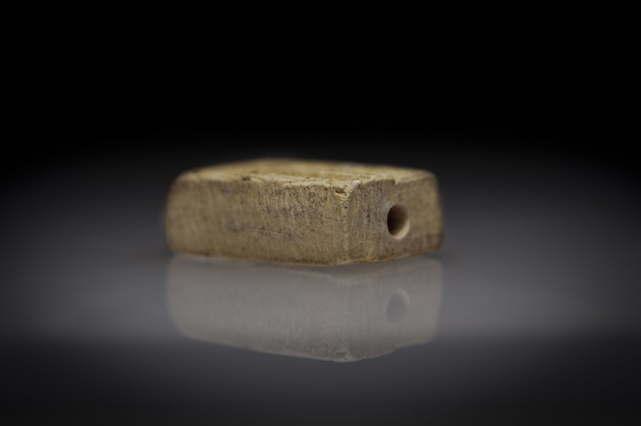 Egyptian Steatite Double Sided Stamp Seal with a Hieroglyph and a Hybrid Creature