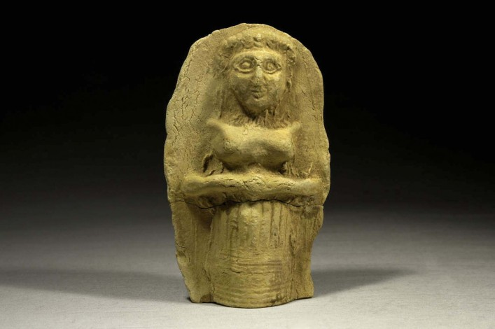 Mesopotamian Plaque with a Figure of a Woman in Relief