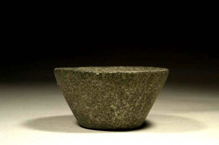 A Canaanite Basalt Stone Mortar