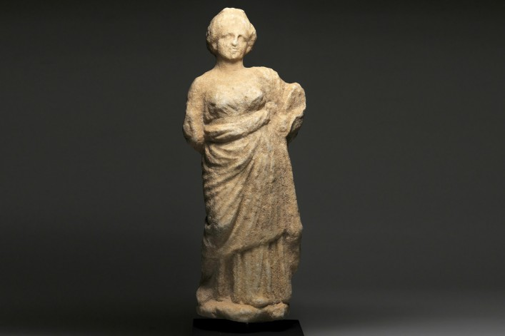 A Roman Marble Statuette of a Woman