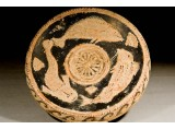 A Greek Red Figure Fish Plate