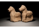 Pair of Ceramic Zoomorphic Oil Fillers