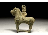 A Roman Bronze Figurine of a Horse with a Female Rider